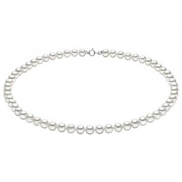 Collana Da Donna Comete Gioielli Easy Basic In Oro Bianco Con Perle Fwq 102 Am