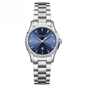 Orologio Donna Hamilton Jazzmaster Automatico 34mm cassa in Acciaio quadrante Blu cinturino in Acciaio