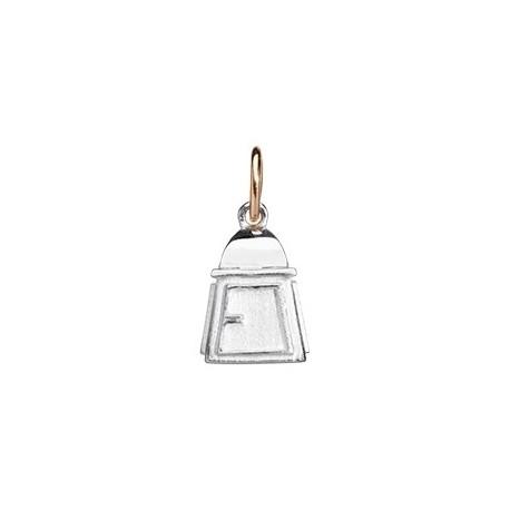 Queriot Civita Ciondolo Lanterna Dell'amicizia In Argento 925 E Oro Rosa 9k