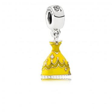 Pandora Disney Charm pendente in argento La Bella e la Bestia Vestito di Belle