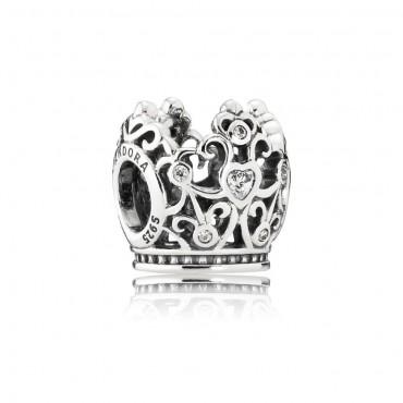 Pandora Disney Charm pendente in argento La Bella e la Bestia Corona della Principessa