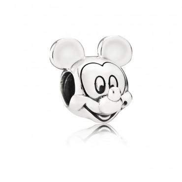 Pandora Disney Charm Mickey Mouse in argento
