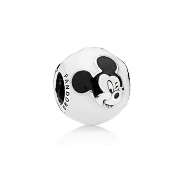 Pandora Disney Charm Mickey Mouse Sorridente in argento