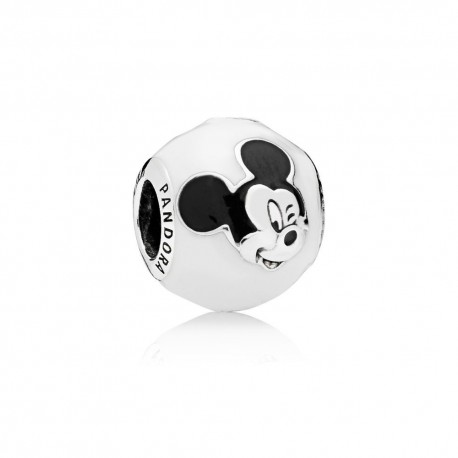 Pandora Disney Charm Mickey Mouse Sorridente in argento