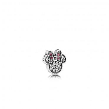 Pandora Disney Elemento Petite Piccola Minnie Scintillante in argento