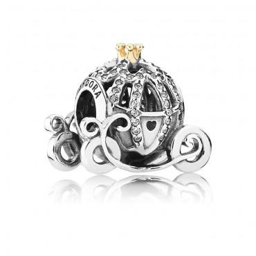 Pandora Disney Charm La Carrozza di Cenerentola con Zirconi