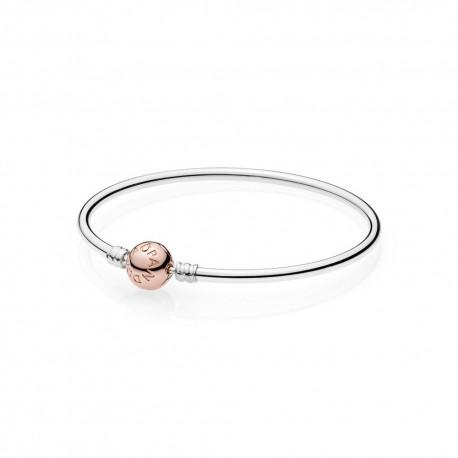 Pandora Bracciale rigido con Chiusura sferica Rosé