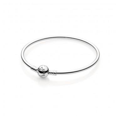 Pandora Disney Bracciale rigido in argento La Bella e la Bestia