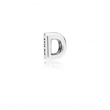 Pandora Elemento Petite Piccola Lettera D in Argento