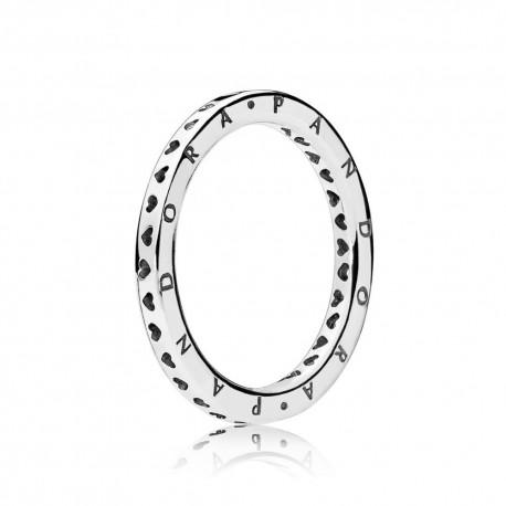 pandora anello cuore argento