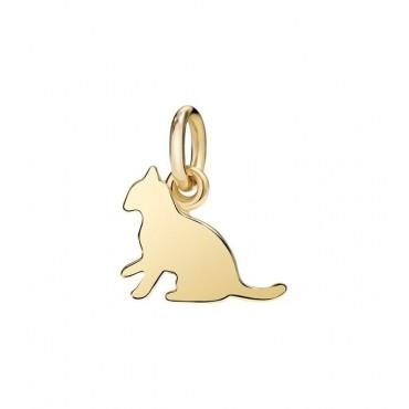 Gatto Ciondolo in Oro Giallo 18kt