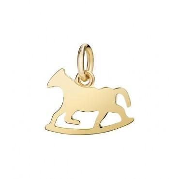 Cavallo a Dondolo Ciondolo in Oro Giallo 18kt
