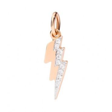 Fulmine Ciondolo in Oro Rosa 9kt e Diamanti - DoDo