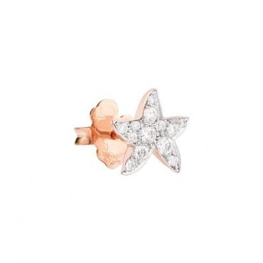 Orecchino Stella Marina in Oro Rosa 9Kt e Diamanti - DoDo