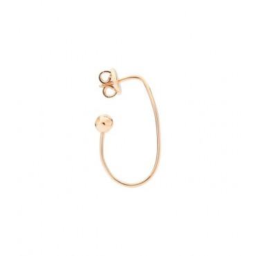 Orecchino Ovale in Oro Rosa 9Kt - DoDo