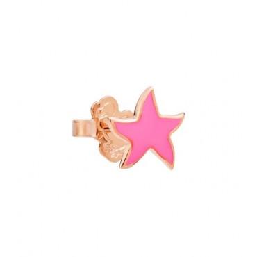 Orecchino Stella Marina in Oro Rosa 9Kt e Smalto Rosa Fluo - DoDo
