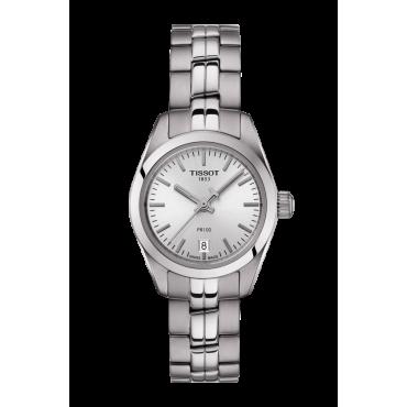 Orologio Donna Tissot T-Classic PR 100 Lady Small - Tempo / Data - al Quarzo - Cinturino in Acciaio - T1010101103100