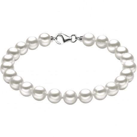 Bracciale Donna Comete Gioielli Easy Basic in oro bianco e perle - BRQ113S