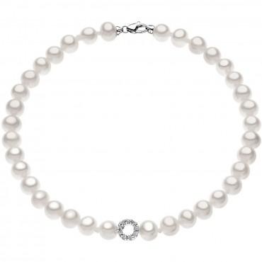 Bracciale Donna Comete Gioielli Fantasie di Perle in oro bianco e perle con diamanti - BRQ128