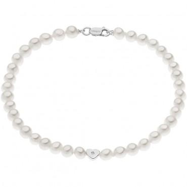 Bracciale Donna Comete Gioielli Fantasie di Perle in oro bianco e perle con diamanti - BRQ264