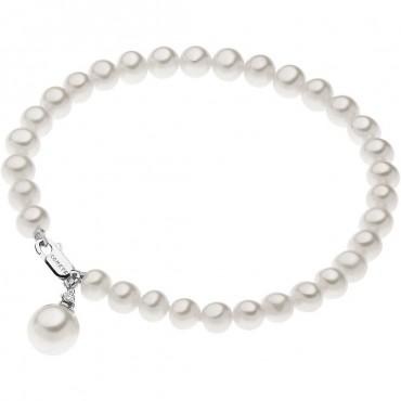 Bracciale Donna Comete Gioielli Fantasie di Perle in oro bianco e perle con diamanti - BRQ265