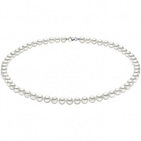 Collana Girocollo Donna Comete Gioielli Perle Argento in oro bianco e perle - FWQ102S