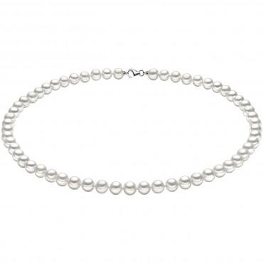 Collana Girocollo Donna Comete Gioielli Perle Argento in oro bianco e perle - FWQ103S