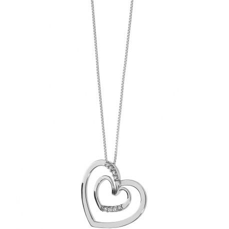 Collana Girocollo Donna Comete Gioielli Fantasie di Diamanti in oro bianco e diamanti - GLB1339
