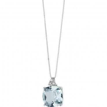 Collana Girocollo Donna Comete Gioielli Fantasia di Topazio in oro bianco e diamanti - GLB1348