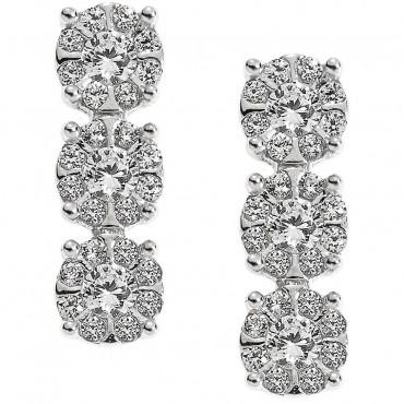 Orecchini Donna Comete Gioielli Lumiere in oro bianco e diamanti - ORB714