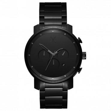 Cronografo Uomo MVMT Black Link al Quarzo Cinturino in Acciaio - MC01BB
