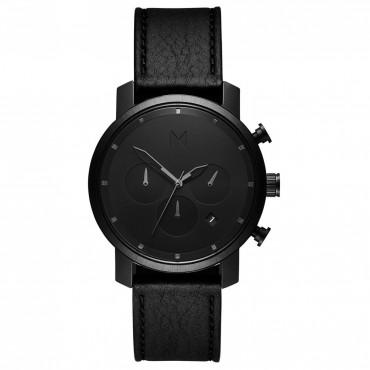 Cronografo Uomo MVMT Black Leather al Quarzo Cinturino in Pelle - MC02-BLBL