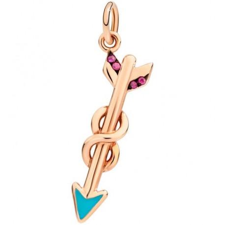 Freccia DoDo in Oro Rosa 9kt, Rubini e Smalto Turchese