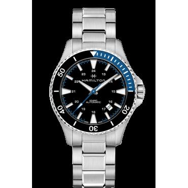 Orologio automatico uomo Hamilton Khaki Navy - Tempo Data - Cinturino in acciaio - H82315131