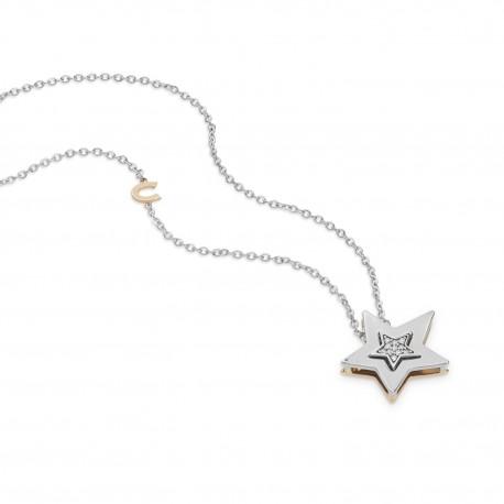 Collana girocollo Comete Gioielli da donna con pendente a stella scomponibile in oro bianco e rosè con diamanti - GLB1447