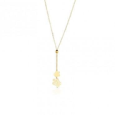 Collana da donna Roberto Giannotti con charm angeli pendenti in Oro collezione Angeli 46-48cm - NKT217G