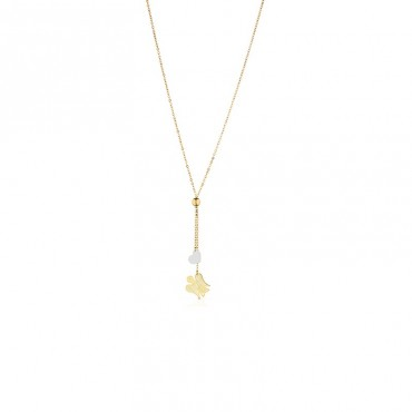 Collana da donna Roberto Giannotti con charm angelo e cuore pendenti in Oro collezione Angeli 46-48cm - NKT221