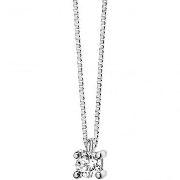 Collana donna Comete Gioielli in Oro Bianco e Diamanti collezione Storia di luce - GLB 1409