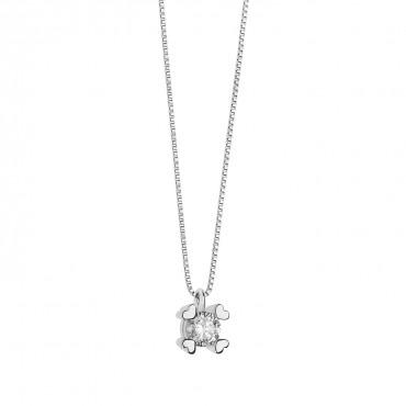 Collana / Punto luce donna Comete Gioielli in Oro Bianco e Diamanti collezione Pegno D'amore - GLB 1450