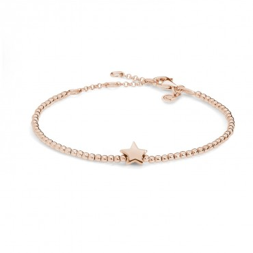 Bracciale donna Comete Gioielli in Argento rosato e collezione Stella con charm stella rosè - BRA 153