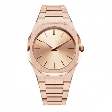 Orologio Donna D1 Milano Rose Gold Ultra Thin 38mm cassa Oro rosa Rose gold quadrante Oro rosa cinturino in Acciaio D1-A-UTBL02