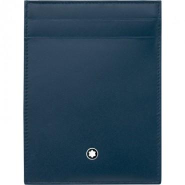 Custodia tascabile, Portafogli e portadocumenti Uomo Montblanc Meisterstuck 4 scomparti in Vera pelle colore Navy 118311