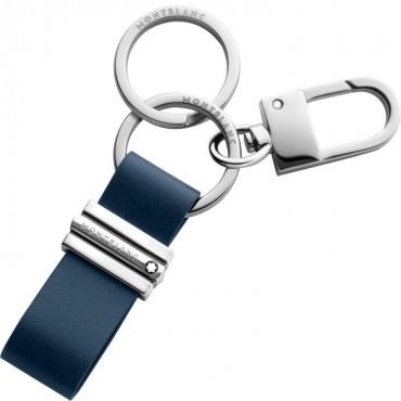 Porta chiavi Unisex Montblanc Meisterstuck con anelli e gancio in Pelle di vitello colore Blu Navy 118322