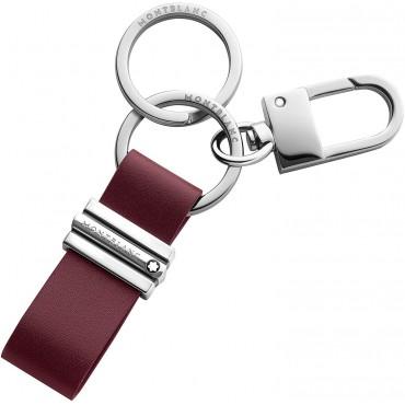 Porta chiavi Unisex Montblanc Meisterstuck con anelli e gancio in Pelle di vitello colore Rosso 118323