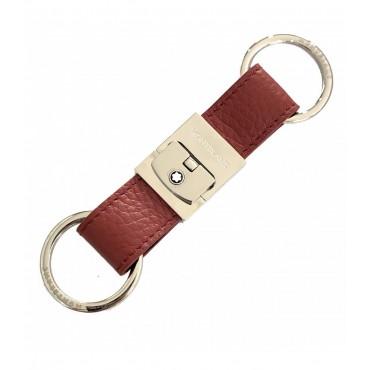 Porta chiavi Unisex Montblanc Meisterstuck in Pelle colore Marrone/Rosso 124113
