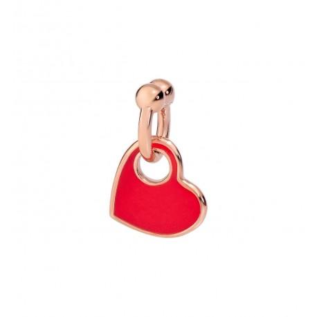 Ciondolo Charm Donna DoDo in Oro Rosa Cuore smaltato rosso -  DMPICUORP/9/RED