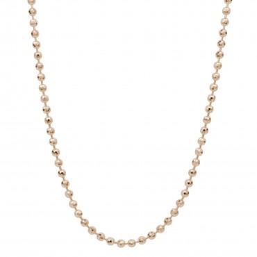 Collana catena con palline componibile in argento, oro rosa