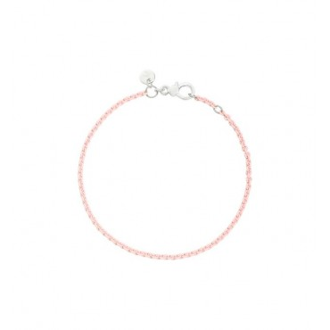 Bracciale in Argento Laccato Rosa Pastello Misura:17 cm Regolabile Anche per un Polso di Musira 16 - DoDo