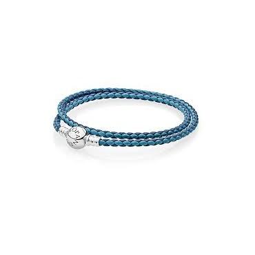 Bracciale Pandora in Pelle Azzurro Pandora