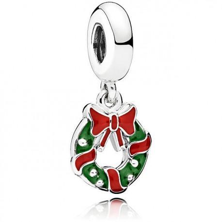 Charm pendente Ghirlanda natalizia  Pandora
